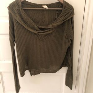 Free people olive green pullover